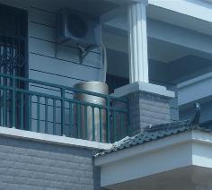 家用空气能热水器 - 湖北松滋别墅热水工程