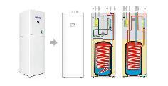 2P水源地暖热水工程机组,别墅热水循环系统,别墅空调热水系统,别墅热水设备,别墅热水供应系统