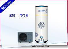 3D系列 - 青花瓷家用空气能热水器分体机  水箱容量320L