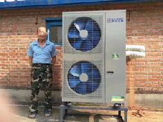 聚阳煤改电空气能用户安装案例