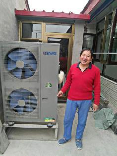 北京聚阳王牌煤改电空气能安装顺义用户案例