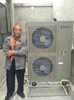 聚阳王牌煤改电空气能安装顺义用户案例