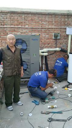 聚阳王牌煤改电空气能安装北京顺义用户案例