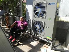 聚阳王牌煤改电空气能安装用户案例